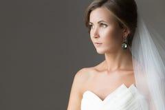 Portrait d'une belle jeune mariée photo libre de droits