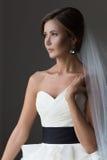 Portrait d'une belle jeune mariée image libre de droits