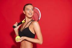 Portrait d'une belle jeune sportive convenable images libres de droits