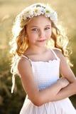 Portrait d'une belle petite fille Image stock