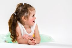 Portrait d'une belle petite fille Enfant Image libre de droits