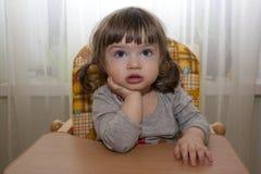 Portrait d'une contemplation d'enfant Photo libre de droits