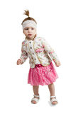 Portrait d'une danse de petite fille Photographie stock libre de droits