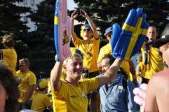 Portrait d'une fan de la Suède Images stock