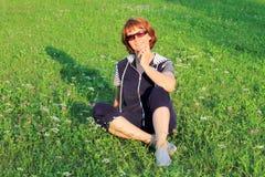 Portrait d'une femme photographie stock