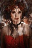 Portrait d'une femme avec un voile images stock