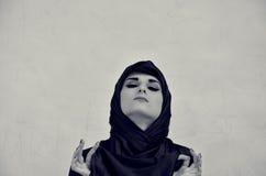 Portrait d'une femme dans un tchador Photographie stock