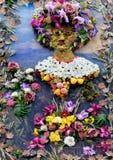 Portrait d'une femme des fleurs Images libres de droits
