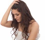 Portrait d'une femme fâchée de brune Photos stock