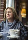 Portrait d'une femme mûre élégante Images libres de droits