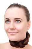 Cou enveloppé par cheveux Photo libre de droits