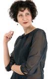 Portrait d'une femme dans le rétro style Photo stock