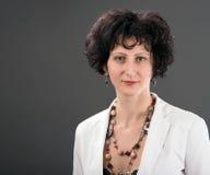 Portrait d'une femme dans le rétro style Images stock