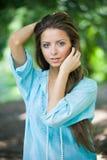 Portrait d'une femme (softfocus) Images stock