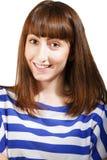 Portrait d'une fille avec du charme de jeune adolescent Photographie stock libre de droits