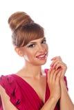 Portrait d'une fille avec un maquillage de soirée photographie stock