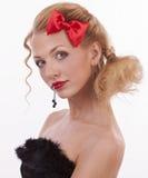 Portrait d'une fille dans l'image de la poupée Photographie stock libre de droits