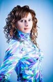 Portrait d'une fille dans une chemise à carreaux Photos stock