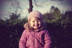Portrait d'une fille de deux ans image libre de droits