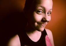 Portrait d'une fille de l'adolescence étonnée Photographie stock