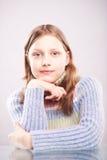 Portrait d'une fille de l'adolescence mignonne Images stock