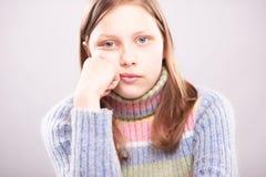 Portrait d'une fille de l'adolescence mignonne Photos stock