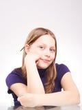 Portrait d'une fille de l'adolescence mignonne Images libres de droits