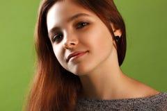 Portrait d'une fille de sourire Image stock