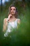 Portrait d'une fille italienne Photo stock