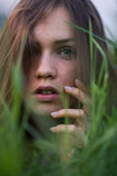 Portrait d'une fille italienne Image libre de droits