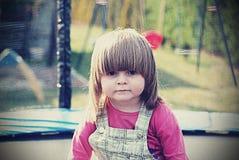 Portrait d'une fille triste, vintage Photographie stock