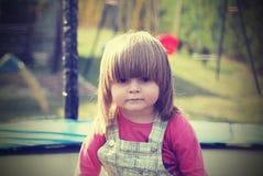 Portrait d'une fille triste, vintage Image libre de droits