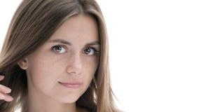 Portrait d'une gentille fille photo stock