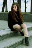 Portrait d'une jeune femme Photographie stock