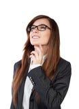 Portrait d'une jeune femme attirante d'affaires Photo stock