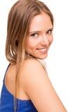 Portrait d'une jeune femme de sourire photos stock
