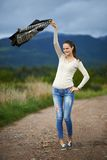 Portrait d'une jeune femme extérieure Image libre de droits