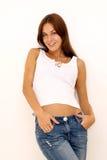 Portrait d'une jeune femme heureuse photographie stock