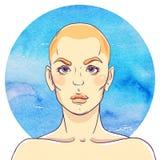 Portrait d'une jeune fille illustration libre de droits