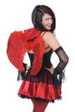 Portrait d'une jeune fille dans un costume de Halloween Photographie stock libre de droits