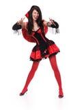 Portrait d'une jeune fille dans un costume de Halloween Image libre de droits