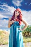 Portrait d'une jeune fille rousse Photographie stock