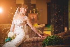 Portrait d'une jeune mariée Photo stock
