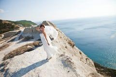 Portrait d'une jeune mariée Photographie stock
