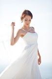 Portrait d'une jeune mariée Image libre de droits