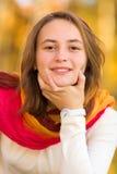 Portrait d'une jolie fille d'adolescent Images libres de droits