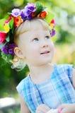 Portrait d'une petite fille Photo stock