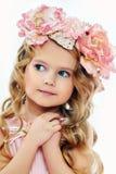 Portrait d'une petite fille avec du charme Images libres de droits