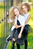 Portrait d'une petite fille de belle mode Photos stock