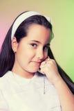 Portrait d'une petite fille dans son premier jour de communion Photo libre de droits